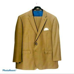 EQULIBRIO MILANO Men's Beige Suit Size 46 Short